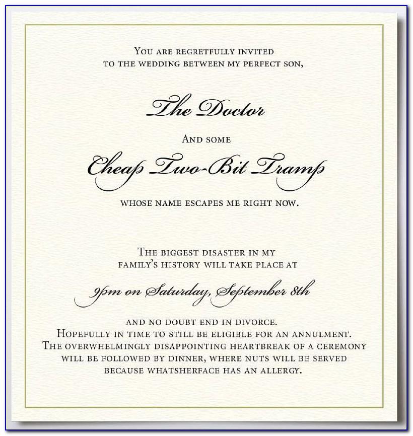 Wedding Cancellation Announcement Templates