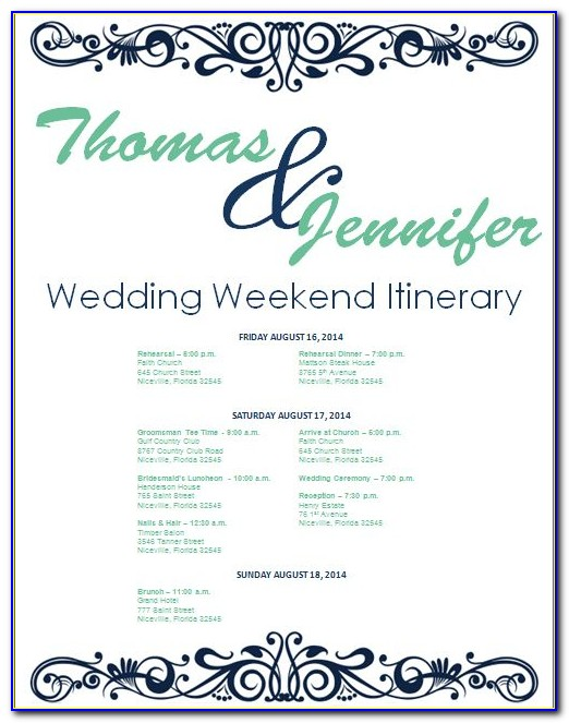 Wedding Day Itinerary Template (2)