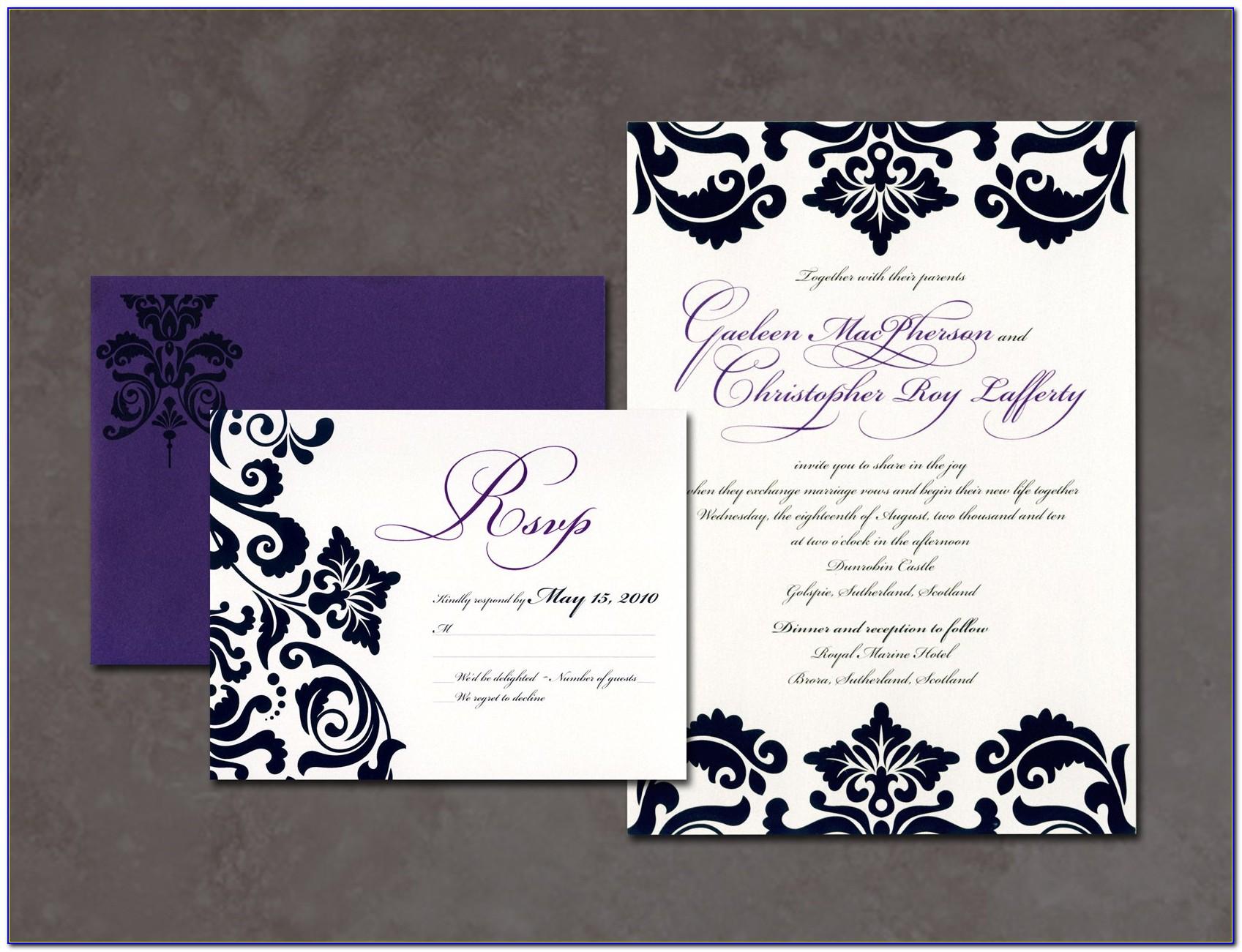 Wedding Invitation Photoshop Template Free Download