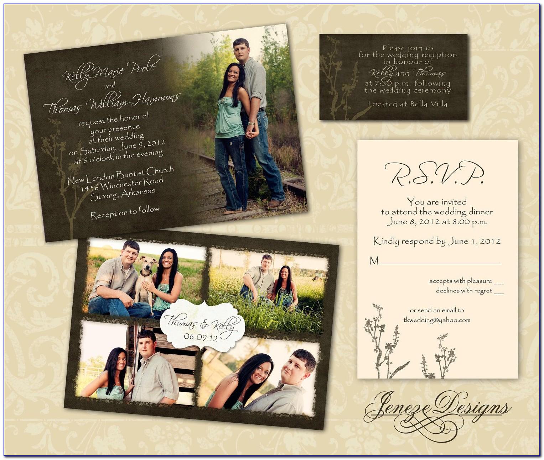Wedding Invitation Template Photoshop Free