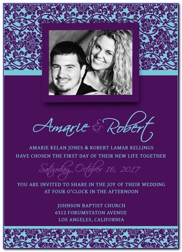 Wedding Invitation Template Photoshop