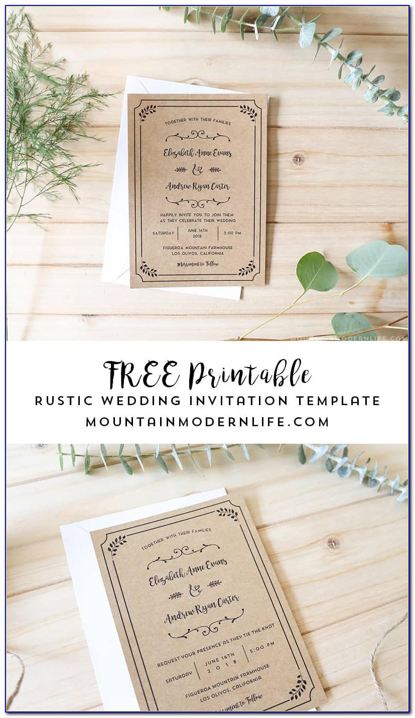 Wedding Invitation Templates Download