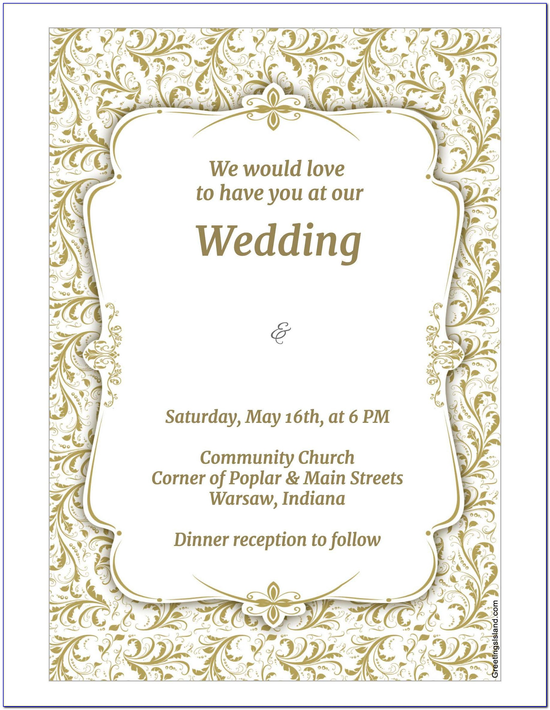Wedding Invitation Templates Psd Download