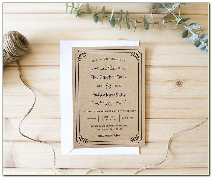 Wedding Invite Template Download Free