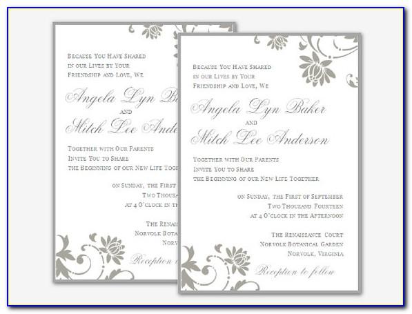 Wedding Invites Templates Uk
