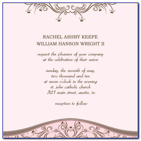 Wedding Invites Templates Word