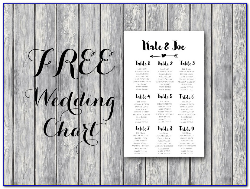 Wedding Reception Seating Chart Template Word