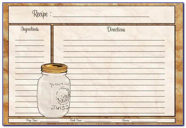 4x6 Recipe Card Template