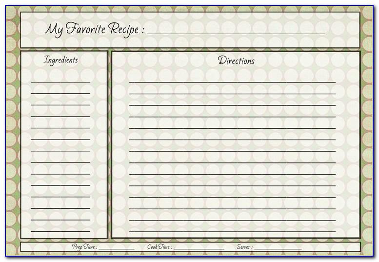 4x6 Recipe Card Templates Download Free