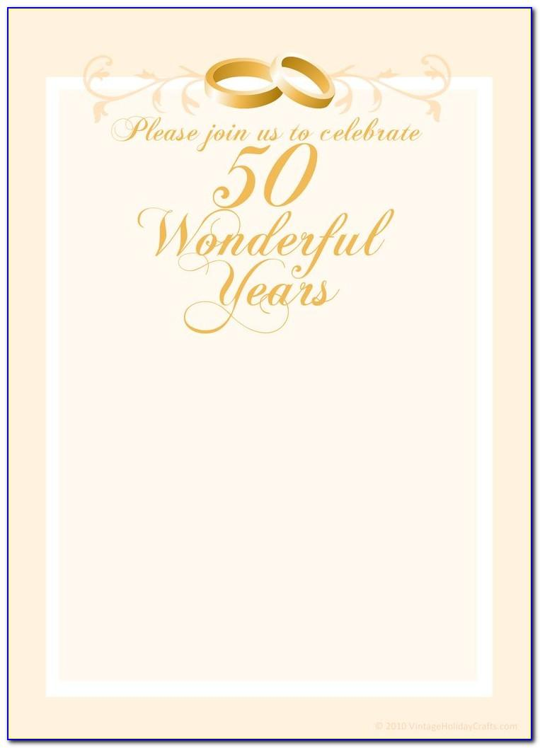 50th Anniversary Invitations Templates Free