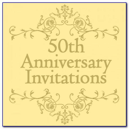 50th Wedding Anniversary Invitation Templates Microsoft Word