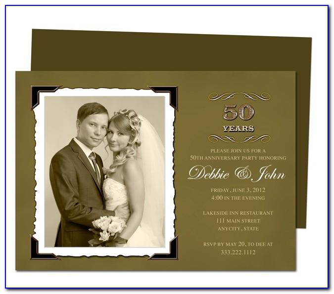 50th Wedding Anniversary Invitations Templates Free