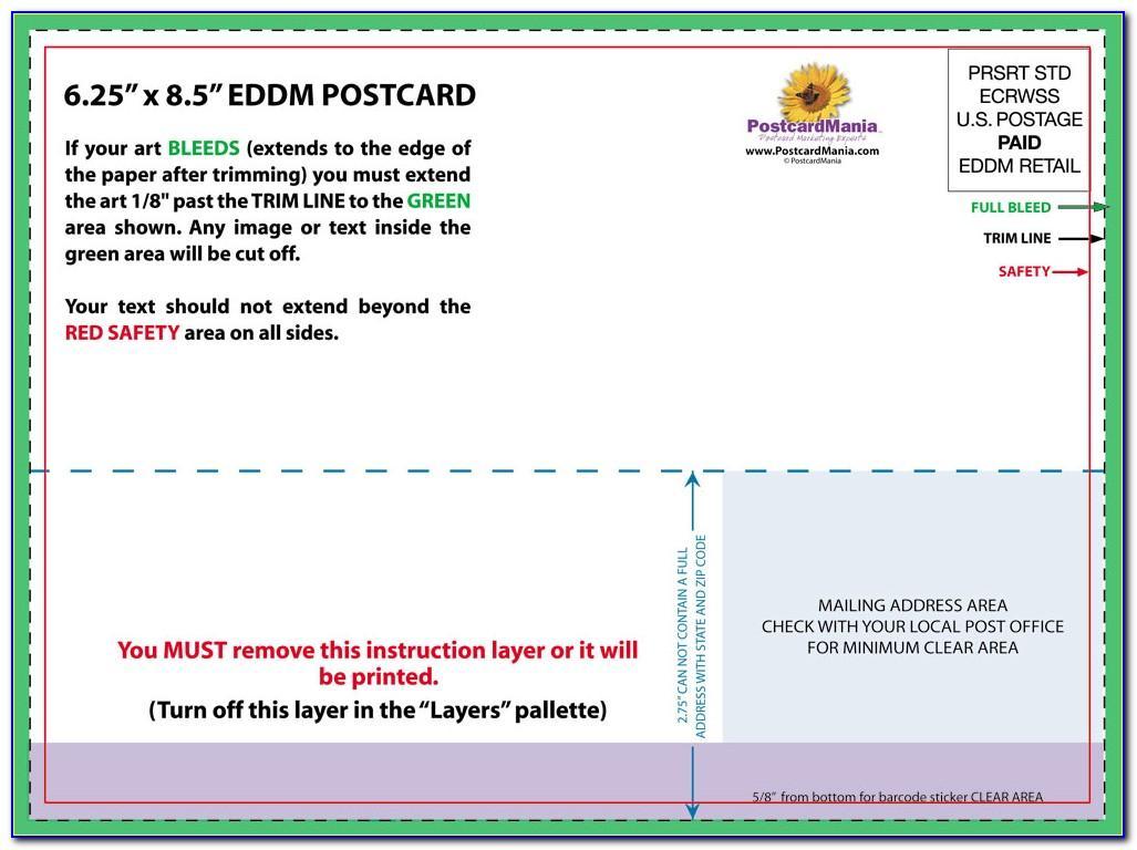 6x9 Postcard Layout