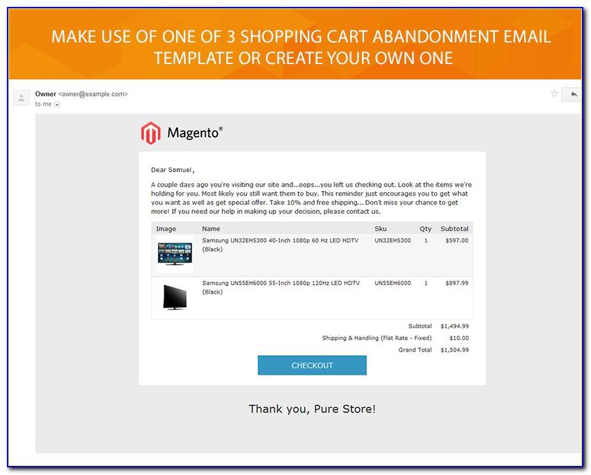 Abandoned Cart Email Template Html Free