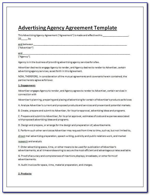 Advertising Contract Template Pdf