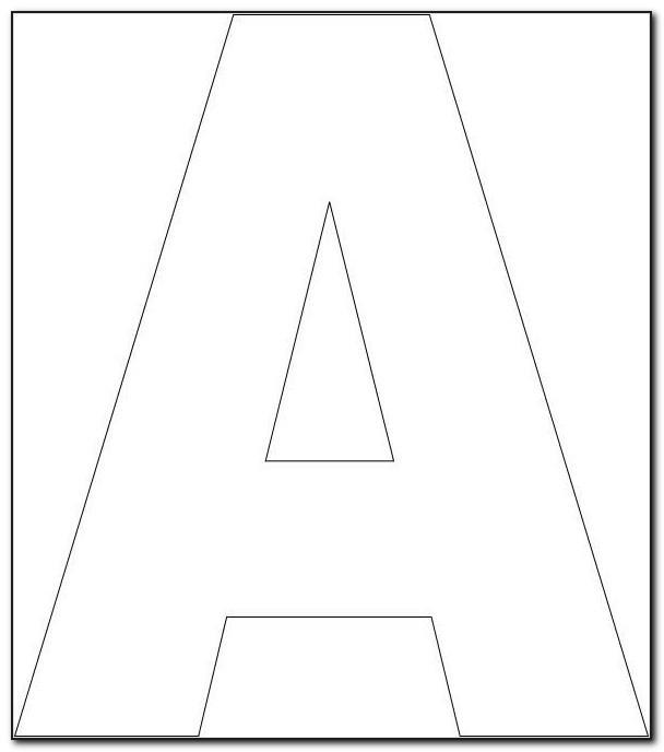 Alphabet Templates Large