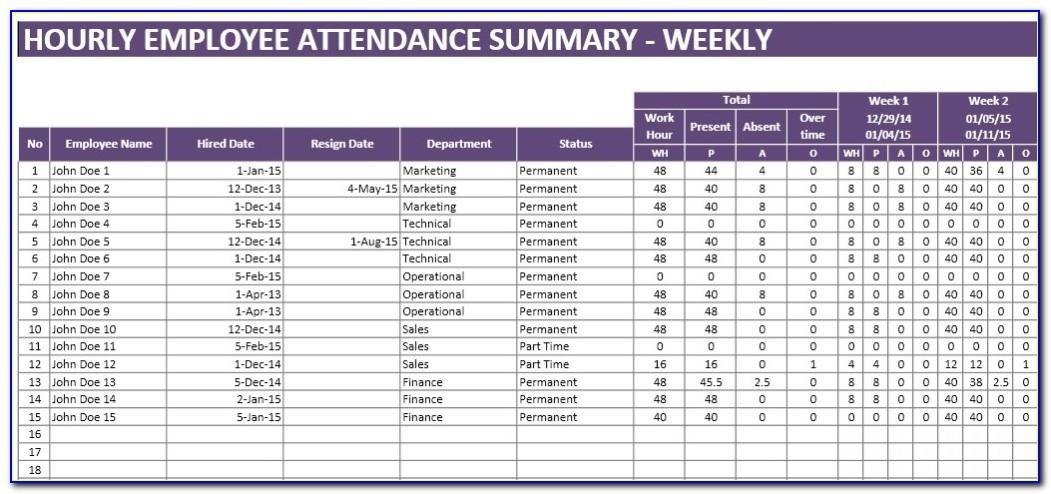 Attendance Tracker Template For Mac