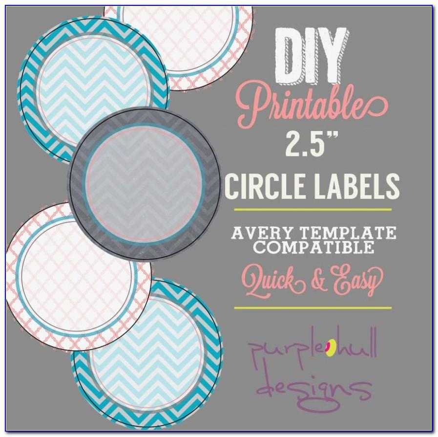 Avery 1.5 Circle Label Template