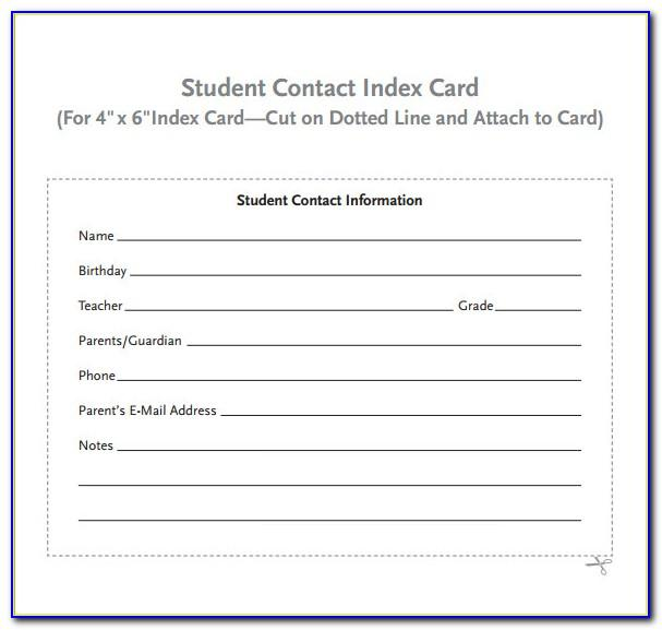 Avery 3 X 5 Index Card Template