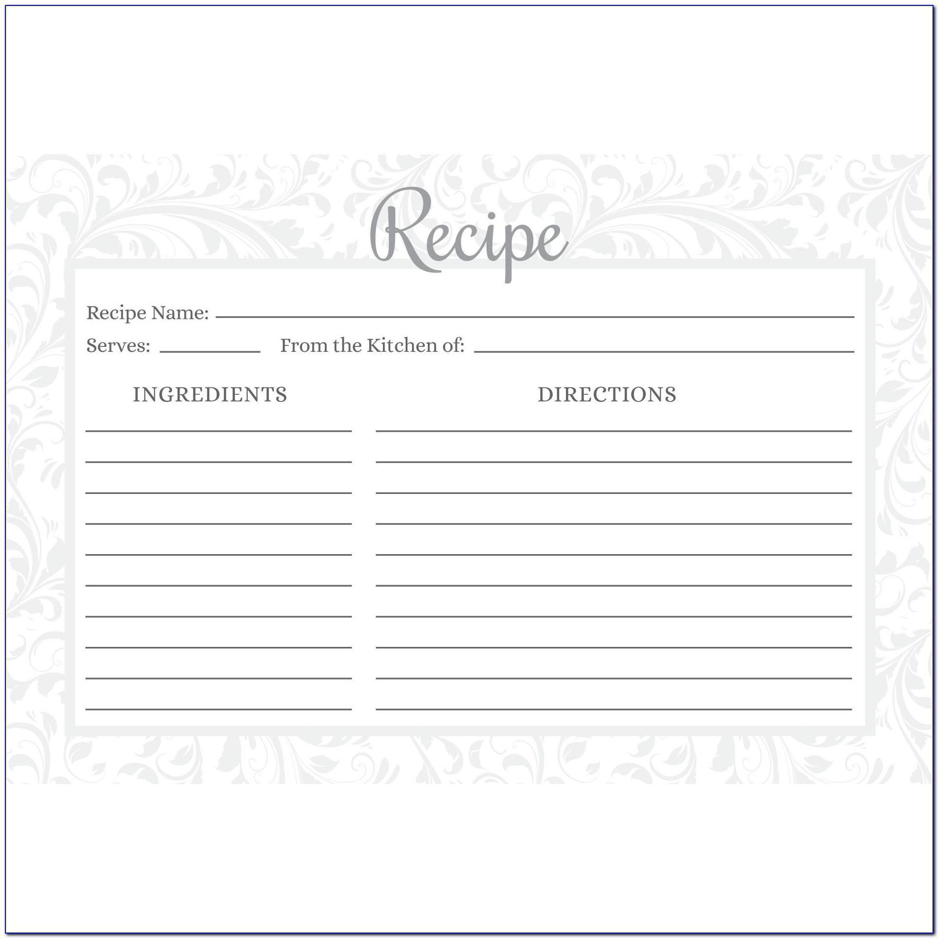 Avery 4 X 6 Recipe Card Template