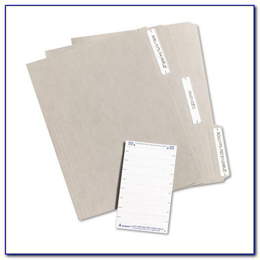 Avery File Folder Label Template 8366