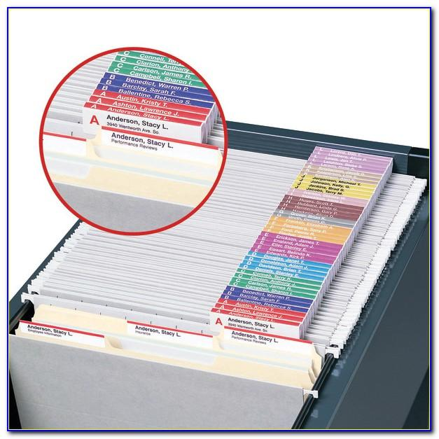 Avery Hanging File Folder Tab Template