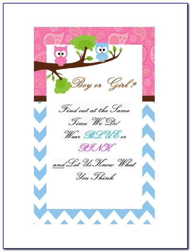 Baby Gender Reveal Invitation Templates