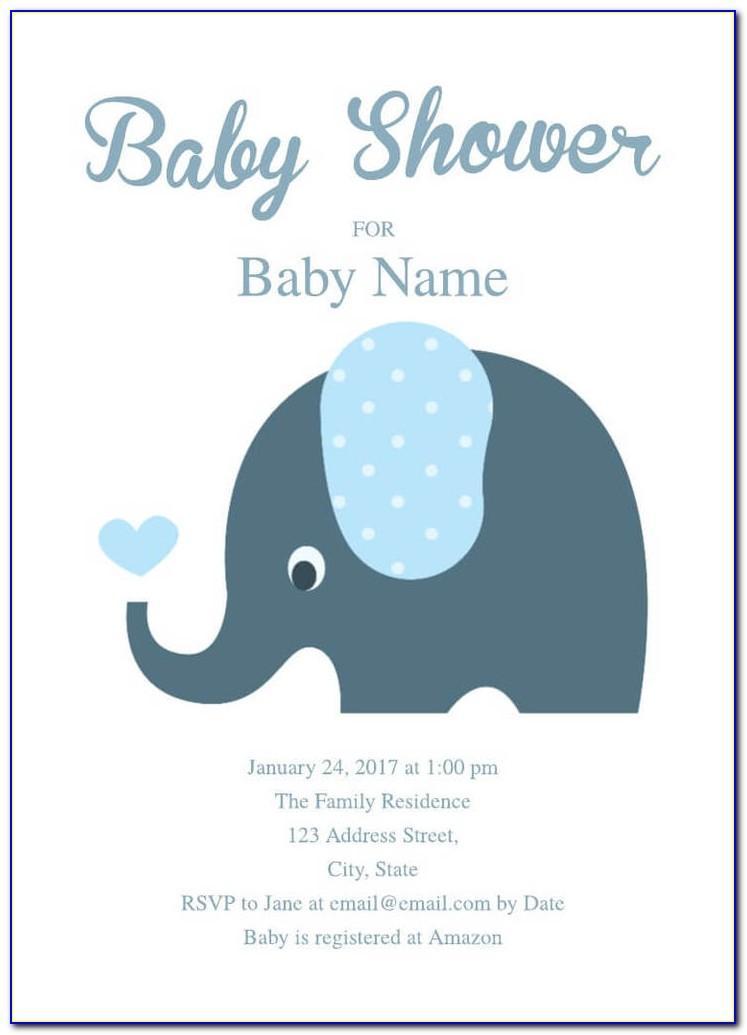 Baby Shower Elephant Template Printable