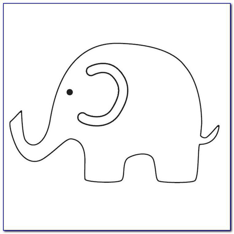 Baby Shower Fingerprint Elephant Template