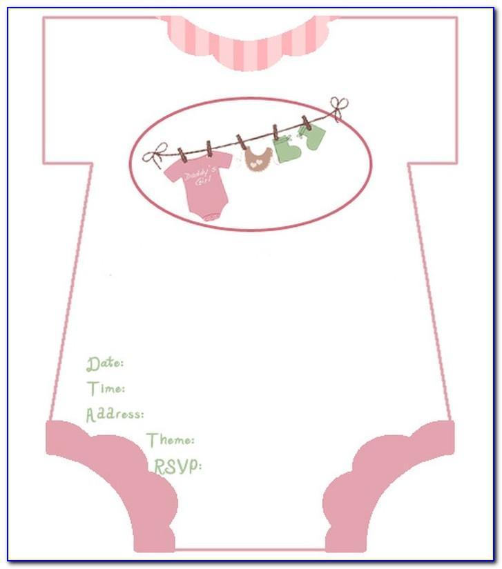 Baby Shower Invitation Girl