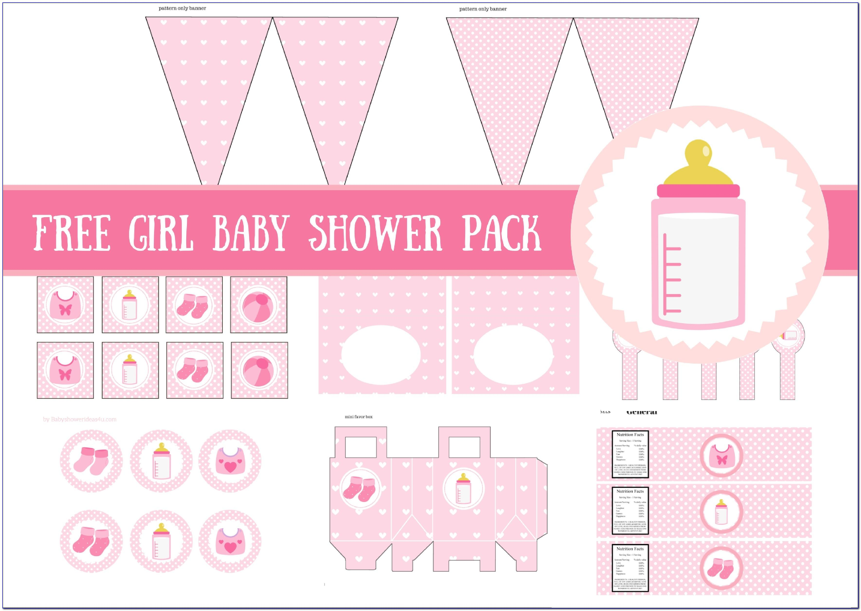 Baby Shower Invitations Girl Elegant