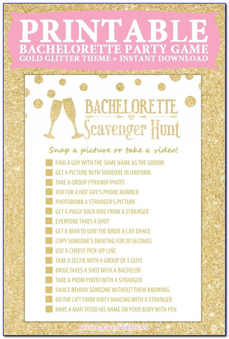 Bachelorette Scavenger Hunt Template Free