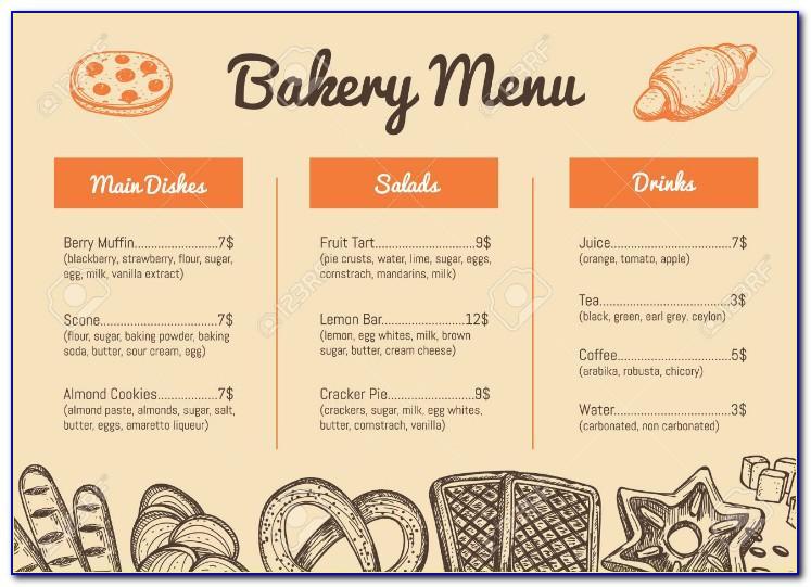 Bakery Menu Templates