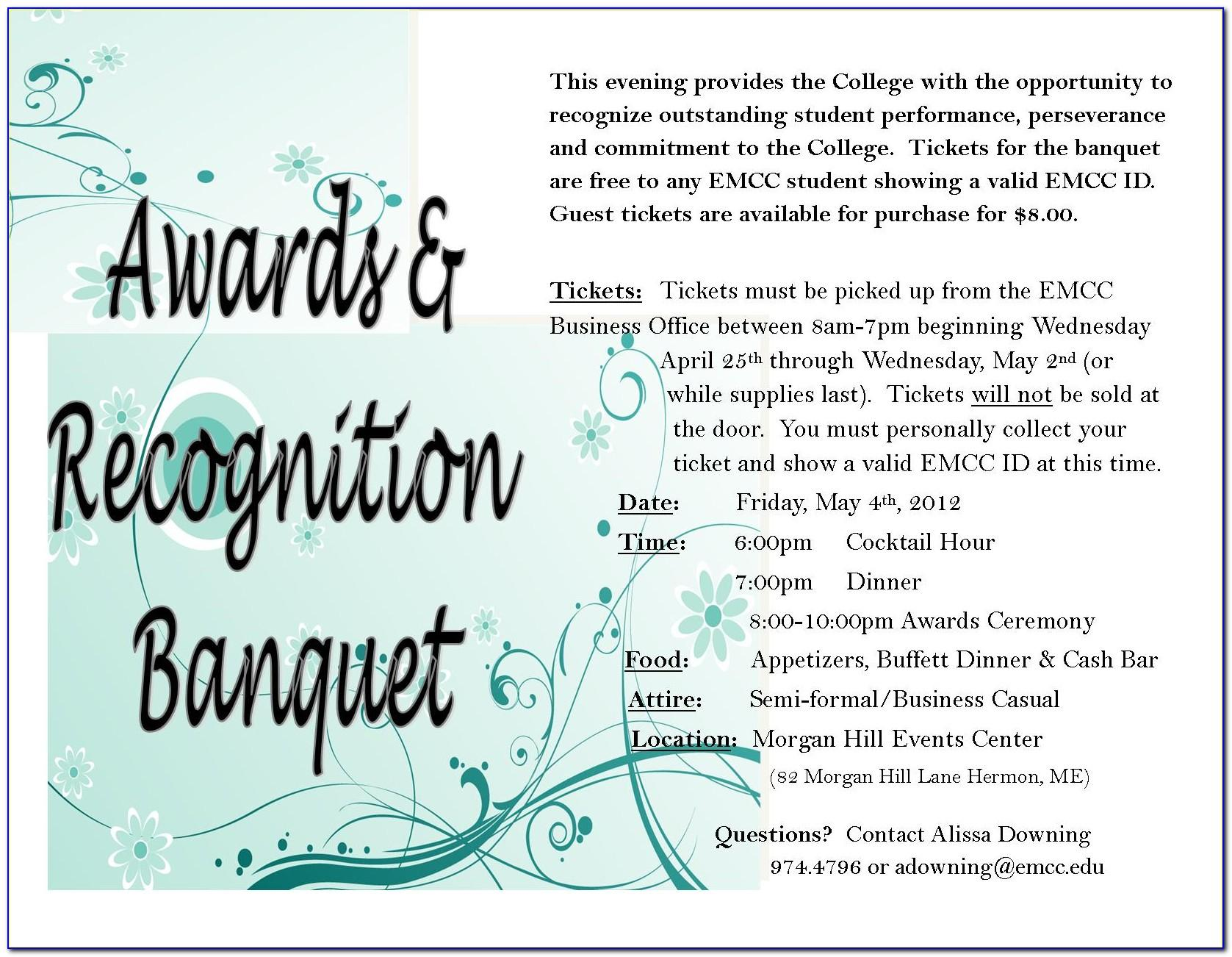 Banquet Invitation Samples