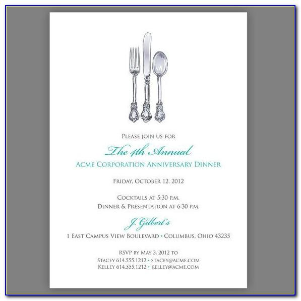Banquet Invitation Template Free