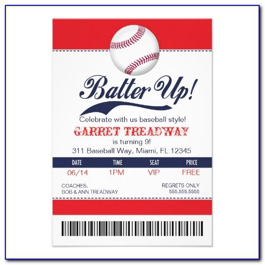 Baseball Birthday Invitation Template
