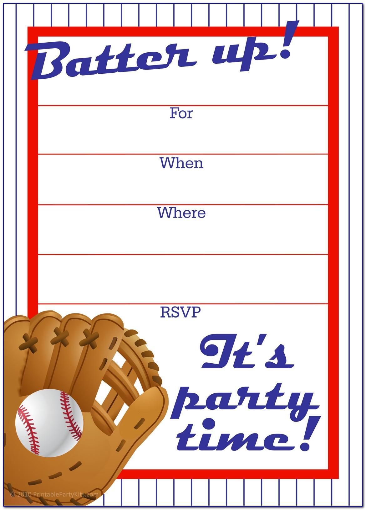 Baseball Invitation Templates