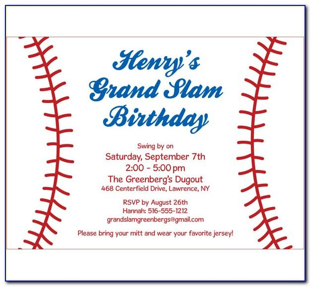 Baseball Invite Template Free
