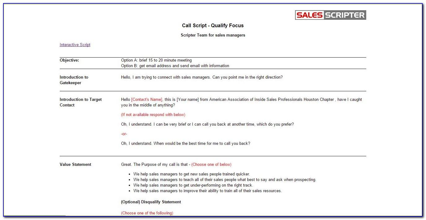 Best Cold Call Sales Email Template