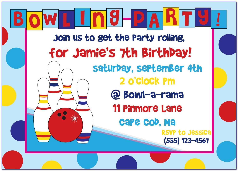 Birthday Invites Template Free