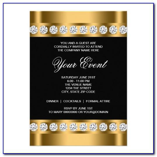 Black And Gold Invitation Template Free