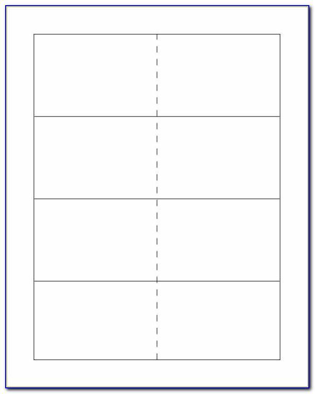 Blank Flash Card Template Pdf