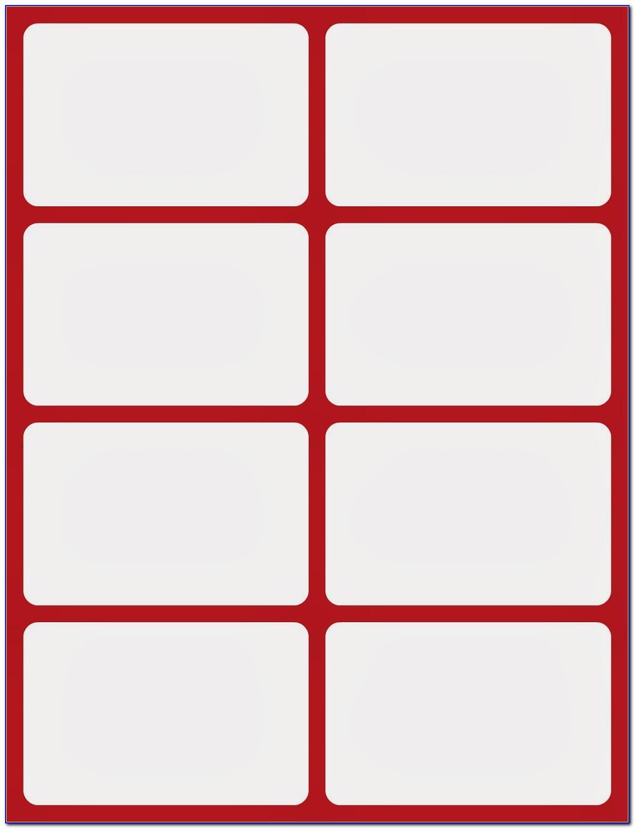 Blank Flash Card Template Word