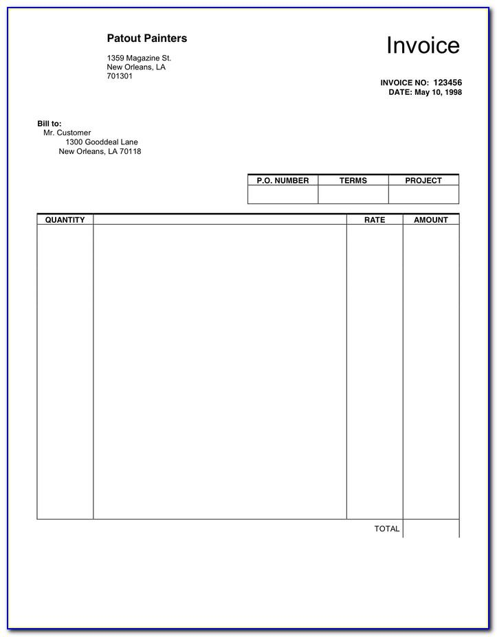 Blank Invoice Forms Pdf
