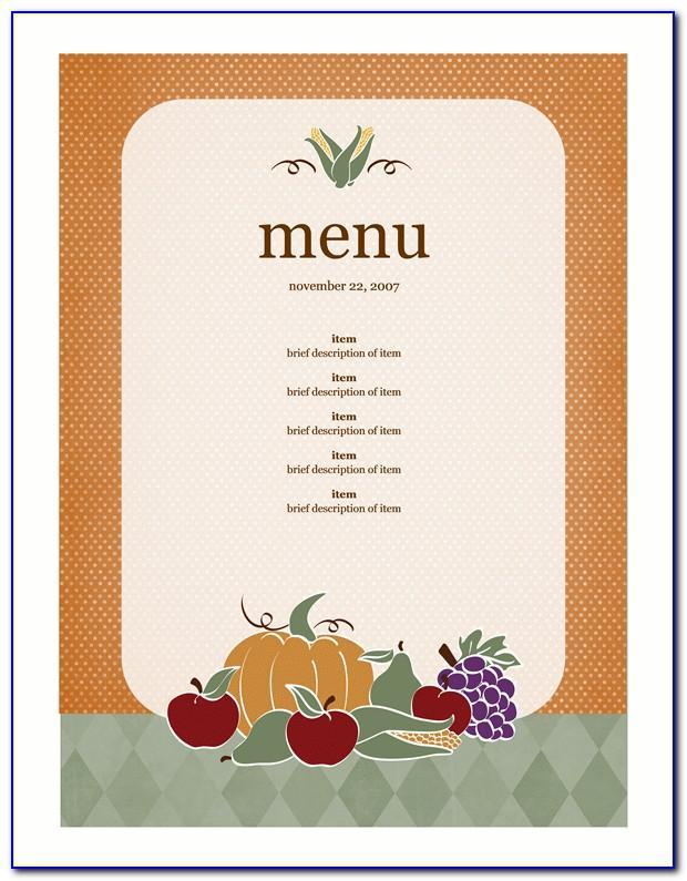 Blank Restaurant Menu Template Pdf