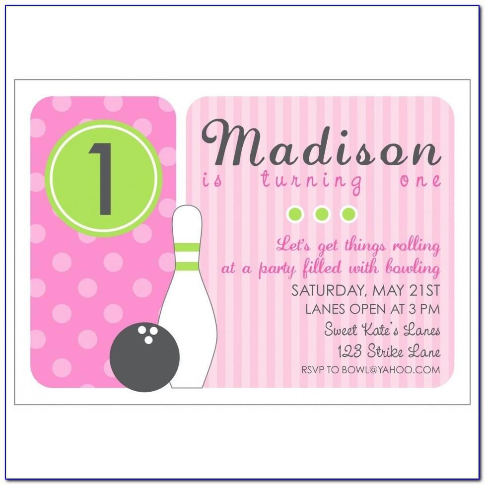 Bowling Party Invitation Template Word Free