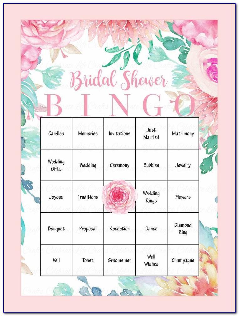 Bridal Bingo Printable