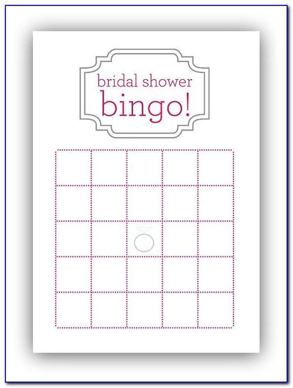 Bridal Bingo Printables