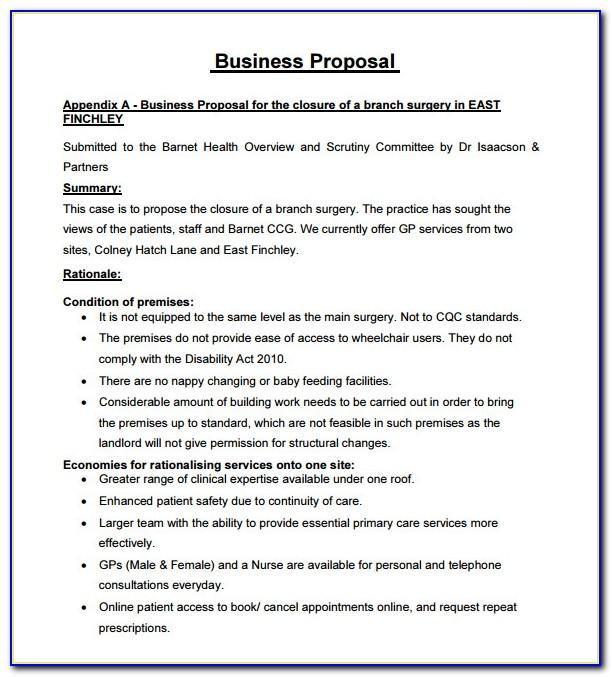 Business Proposal Ppt Template Free Download