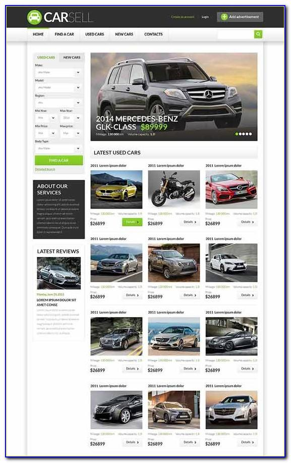 Car Dealer Website Template Html